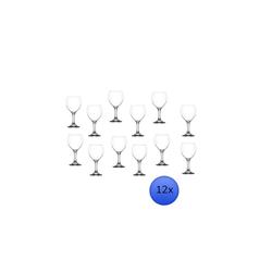 LAV Rotweinglas LAV Gläser, Glas Set 12 Teilig- Weißweingläser Weingläser Rotweingläser (260ml)
