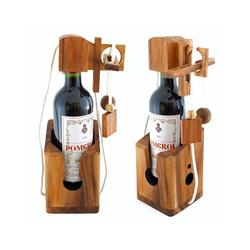 Goods+Gadgets 3D-Puzzle Dont Break The Bottle Flaschen-Tresor, Puzzleteile, Flaschenpuzzle Knobelspiel
