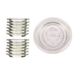 Weck Einmachglas Ersatzdeckel 60 mm für Weckgläser RR 60, Glas, (12-tlg)