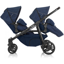 Twin Kinderwagen Brevi Ovo Twin Blue Jeans