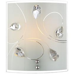 LED 7 Watt Wand Leuchte Nickel Glas opal Kristall Beleuchtung Esszimmer Lobby