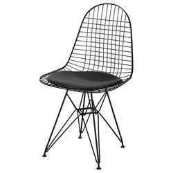 Krzesło metalowe Kairoly czarne z poduszką