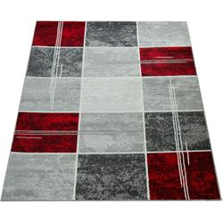 Teppich Sinai 057, Paco Home, rechteckig, Höhe 9 mm, karierter Kurzflor rot 60 cm x 100 cm x 9 mm