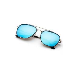 Teletrogy Pilotenbrille Polarisiert Pilotenbrille Sonnenbrille Herren, Fliegerbrille blau
