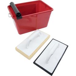 Fliesenrollenwasch-Set, Connex, (Set), inkl. Wascheimer und 2 Waschbrettern