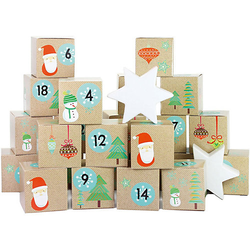 Adventskalender Kisten bedruckt - Weihnachtsmann