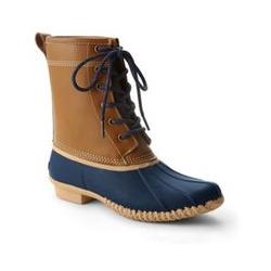 Duck Boots mit Flanellfutter - 37.5 - Braun