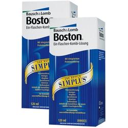 2x Boston Simplus, Bausch & Lomb (2 x 120 ml)