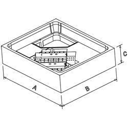 Poresta Duschwannenträger 17039050 Keramag Icon 1000x800x50 662410