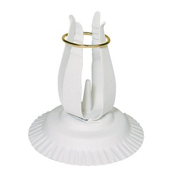 Rayher KerzenständerFür Kommunion- und Taufkerzen mit 3,0-4,0 cm weiß