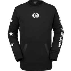 Volcom - Let It Storm Crew Fleece Black - Fleece - Größe: L