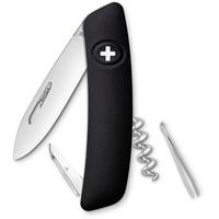 SWIZA Schweizer Messer D01 Gesamtlänge: 16.7cm, Graphite/Schwarz, 75 mm