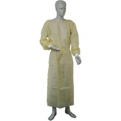 Dahlhausen Besucherkittel , Farbe: gelb, feuchtigkeitsabweisend, 1 Packung = 10 Stück