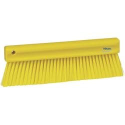 Vikan Mehlbesen, weich, 300 mm, Spezialbesen zur Entfernung feinster Partikel, Farbe: gelb