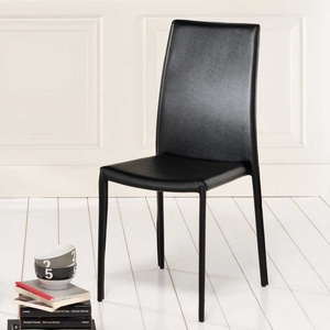 Kunstlederstuhl aus Textil stapelbar (4er Set)