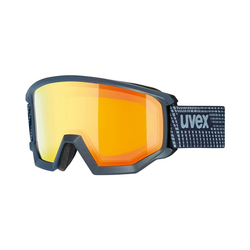Uvex Skibrille Skibrille athletic FM lime mat dl/blue-blue blau
