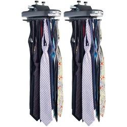 2 elektrische Krawattenhalter für 64 Krawatten & 8 Gürtel, beleuchtet