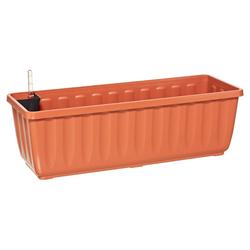 Dehner Blumenkasten Aqua-Flor Plus mit Bewässerungssystem, Kunststoff orange 58,5 cm x 19 cm x 22 cm