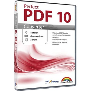 Markt & Technik Perfect PDF 10 Converter Vollversion, 1 Lizenz Windows PDF-Software