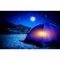 Bilderdepot24 Deco-Panel, selbstklebende Fototapete - Camping bei Nacht bunt 360 cm x 230 cm