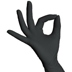 Nitril- Einweghandschuhe XL Schwarz Stronghand