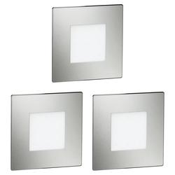 LED Treppen-Licht FEX Stufenbeleuchtung, eckig, 8,5x8,5cm, 230V, rot, 3 Stk.