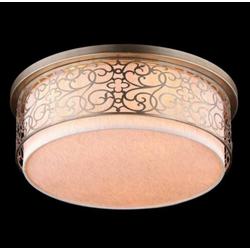 Casa Padrino Barock Decken Kronleuchter Gold 50 x H 24,3 cm Antik Stil - Möbel Lüster Leuchter Deckenleuchte Deckenlampe