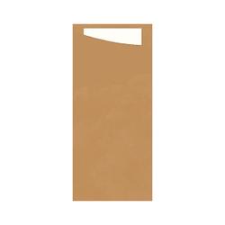 DUNI Sacchetto Serviettentaschen, Tissue, Bestecktasche 19 x 8,5 cm, Farbe: nature / weiß, 1 Karton = 4 x 100 Stück = 400 Stück