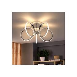 ZMH LED Deckenleuchte 37W 47cm 3000K Warmweiß Licht Innen Beleuchtung für Schlafzimmer Arbeitszimmer Büro