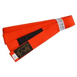 Kinder BJJ Gürtel orange m. Bar (Größe: 240, Farbe: Orange)