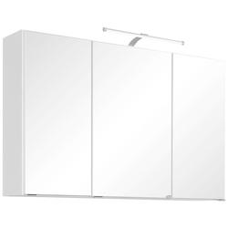 HELD MÖBEL Spiegelschrank Florida Breite 100 cm, mit LED-Beleuchtung weiß