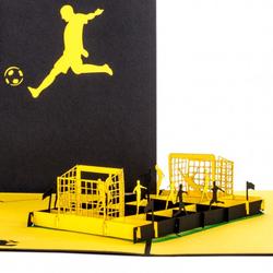 Colognecards Pop-Up Karte Fußballfan schwarz / gelb