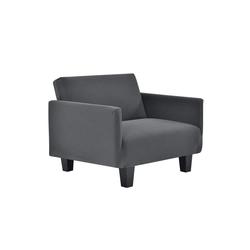 Sofahusse, neu.haus, 70-120cm Dunkelgrau Sofabezug 1-Sitzer grau