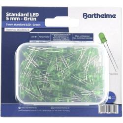 Barthelme LED-Sortiment Grün Rund 5mm 120 mcd 35° 20mA 3V