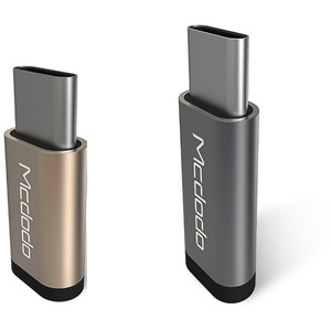 mcdodo Adapter Micro-USB auf Typ-C (USB-C) Ladeadapter Datenadapter Smartphone Handy PC Computer Laptop Notebook MacBook USB-Kabel silberfarben