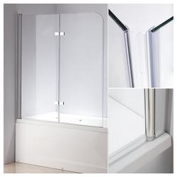 Mucola Badewannenfaltwand Duschwand Badewannen Faltwand Duschtrennwand, Sicherheitsglas, (2 tlg), 138 x 120 cm