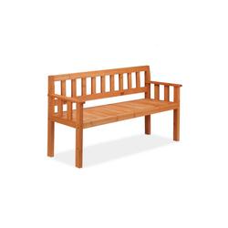 relaxdays Gartenbank Holz Gartenbank 3-Sitzer