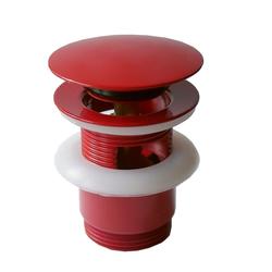 Pop - Up, Klick Excenter, Abfluss, Ablaufgarnitur, Ablaufventil, rot