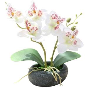Lsgepavilion Kreative künstliche Schmetterlings-Orchidee Bonsai Simulation Blume Büro Garten Dekor