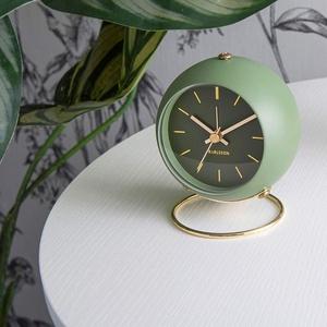 zlw-shop Standuhr Home Mini Wecker Mute Nordic Style Lampe Luxus Einfache Uhr Uhr Vier Farben standuhr Vintage (Color : C)
