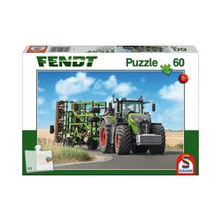 Schmidt Spiele Puzzle Puzzle 60 Teile Fendt 1050 Vario mit Amazone, Puzzleteile