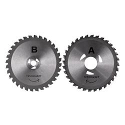 Sägeblätter 2 Stück für Handkreissäge mit Doppelblatt DDS125