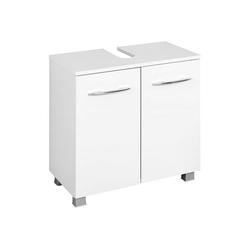 Lomadox Waschbeckenunterschrank BERGAMO-03 Waschbeckenschrank, weiß, B x H x T ca.: 60 x 59 x 35cm