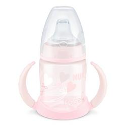 NUK Trinklernflasche Baby rosa First Choice+ Herz-Ballons 150 ml ab dem 6. Monat