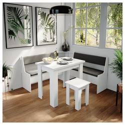 Vicco Sitzgruppe Eckbankgruppe Roman Weiß 150x150cm Esszimmergruppe Eckbank Sitzgruppe