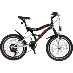 Rezzak Kinderfahrrad 20 Zoll Kinder Fahrrad Jungen Fahrrad Mountainbike vollgefedert 7 Gang DOCA, 7 Gang Schimano Shimano Schaltwerk, Kettenschaltung