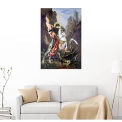 Posterlounge Wandbild, St. Georg und der Drache 20 cm x 30 cm