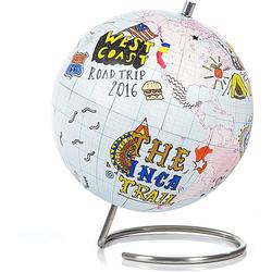 SuckUK Globus Globus zum Bemalen - DIY Bastel-Globus - 18 cm x 14 cm