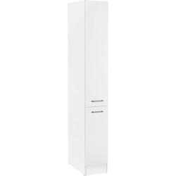 OPTIFIT Apothekerschrank Iver Breite 30 cm, mit 2 Auszügen, 5 Ablagen weiß