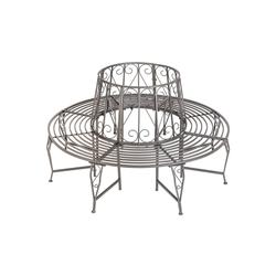 tectake Gartenbank Baumbank 360° aus Stahl